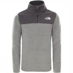 The North Face Glacier Blocked 1/4-rits Fleece Junior Lichtgrijs Mengeling/Donkergrijs Mengeling