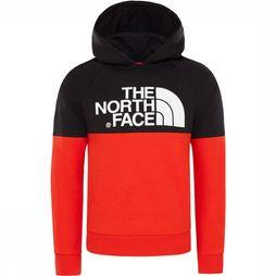 The North Face Drew Peak Raglan Hoodie Junior Rood/Zwart