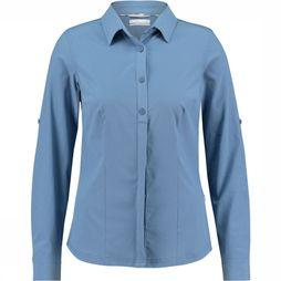 Columbia Saturday Trail Stretch LS Shirt Dames Marineblauw/Rood