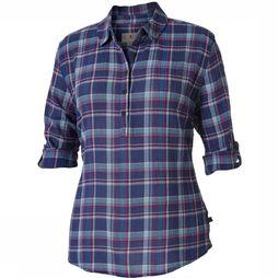 Royal Robbins Oasis Plaid Popover Shirt Lichtblauw