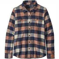 Patagonia LS Fjord Flannel Shirt Dames Middenroze/Blauw