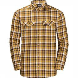 Jack Wolfskin Bow Valley Shirt Middengeel/Wit