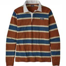 Patagonia LS LW Rugby Shirt Wit/Bruin
