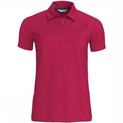 Vaude Skomer Polo Shirt Dames Middenrood