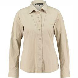 Ayacucho Equator Stretch Shirt LS Dames Zandbruin