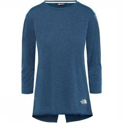 The North Face Inlux 3/4 Top Dames Donkerblauw/Petrol