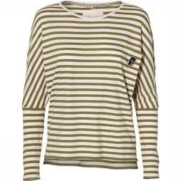 O'Neill LW Essentials Striped Long Sleeve T-Shirt Dames Lichtroze/Middenkaki