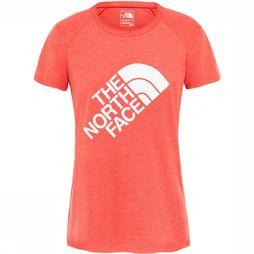 The North Face Graphic Play Hard S/S Shirt Dames Rood
