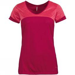 Vaude Skomer V-Neck Shirt II Dames Middenrood