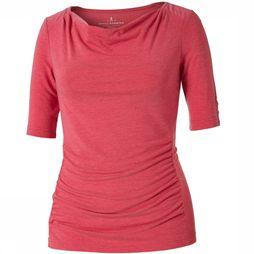Royal Robbins Essential Tencel Cowl Neck Top Rood/Ecru