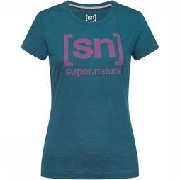 Supernatural Essential I.D. T-shirt Dames Blauw/Middenroze