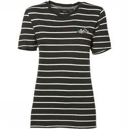 O'Neill LW Premium Striped T-Shirt Dames Zwart