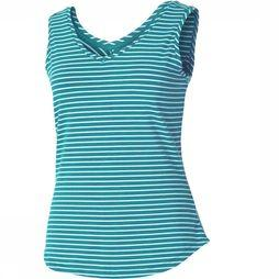 Royal Robbins Active Essential Stripe Tank Dames Turkoois