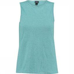 Patagonia Trail Harbor Tank Top Dames Lichtblauw/Middenblauw