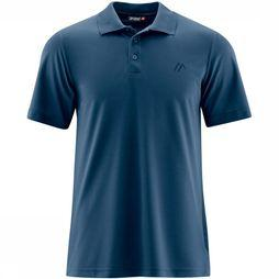 Maier Sports Ulrich Polo Donkerblauw/Middenblauw