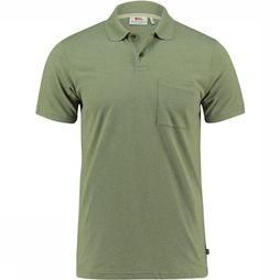 Fjällräven Greenland Re-Cotton Polo Shirt Middengroen/Lichtgroen