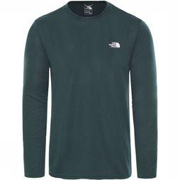 The North Face Reaxion Amp LS Shirt Middengroen