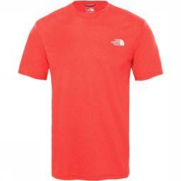The North Face Reaxion Ampere Crew Shirt Donkerrood