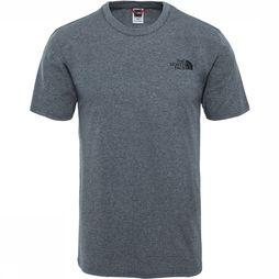 The North Face Simple Dome SS Shirt Lichtgrijs Mengeling