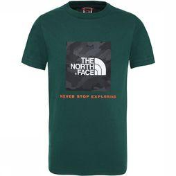 The North Face Box SS Shirt Junior Donkergroen