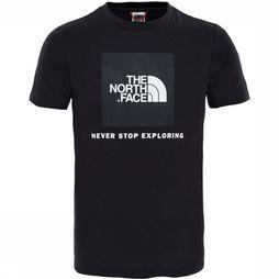 The North Face Box SS Shirt Junior Zwart
