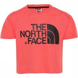 The North Face Cropped S/S Shirt Meisjes Middenroze