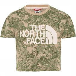 The North Face Cropped S/S Shirt Meisjes Beige
