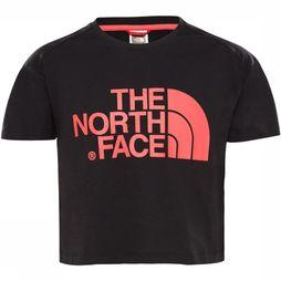 The North Face Cropped S/S Shirt Meisjes Zwart