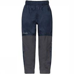 Vaude Escape Padded III Broek Junior Donkerblauw