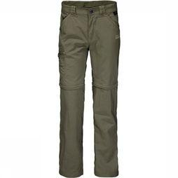 Jack Wolfskin Safari Zip Off Broek Junior Donkerkaki