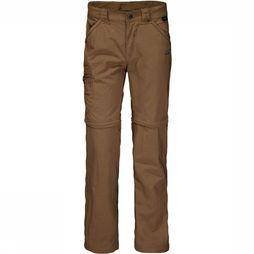Jack Wolfskin Safari Zip Off Broek Junior Bruin