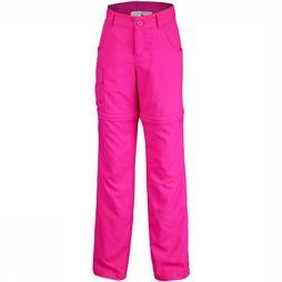 Columbia Silver Ridge Convertible Girls Broek Junior Donkerroze/Middenroze
