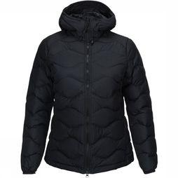 Peak Performance Winter Helium Hooded Jas Dames Zwart