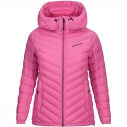 Peak Performance Frost Down hooded Jas Dames Middenroze