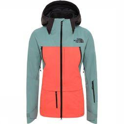 The North Face Ceptor Jas Futurelight Dames Lichtgroen/Lichtroze