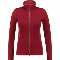 Columbia Roffe Ridge Full Zip Fleece Vest Dames Rood/Donkerrood