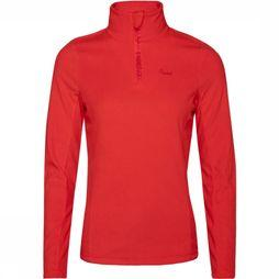 Protest Mutey 1/4 Zip Shirt Dames Rood
