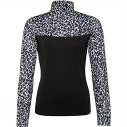 Protest Prya 1/4 Zip Top Pully Dames Zwart