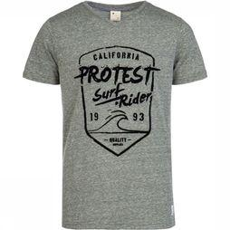 Protest Everton T-Shirt Junior Donkergroen
