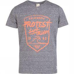 Protest Everton T-Shirt Junior Donkergrijs