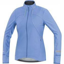 Gore Running Wear Air Lady Windstopper Softshell Shirt Dames Lichtblauw