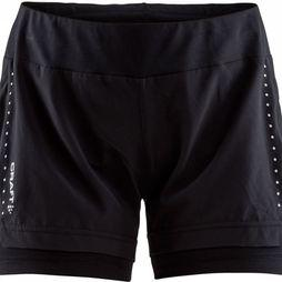 Craft Essential 2in1 Short Dames Zwart