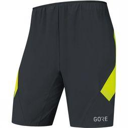 Gore Wear R5 2in1 Short Zwart/Middengeel