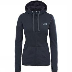 The North Face Fave Full Zip Hoodie Dames Donkergrijs Mengeling/Wit