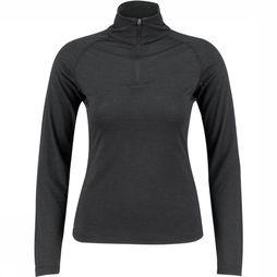 Supernatural Base 1/4 Zip 175 Shirt Dames Donkergrijs