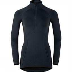 Odlo Evolution Warm Half-Zip Shirt Dames Zwart/Donkergrijs