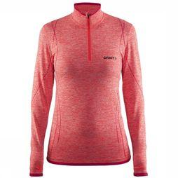 Craft Active Comfort Zip Shirt Dames Middenroze