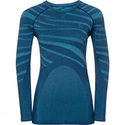 Odlo Performance Blackcomb Shirt Dames Donkerblauw/Middenblauw