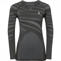 Odlo Performance Blackcomb Shirt Dames Zwart/Middengrijs