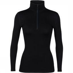 Icebreaker 260 Tech Half Zip Shirt Dames Zwart